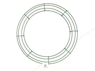 Floral & Garden Floral Supplies: Panacea Box Wire Wreath Frame 16 in. Green (10 pieces)