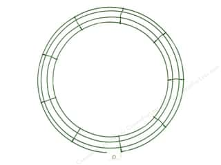 "floral stem wire 18"": Panacea Box Wire Wreath Frame 18 in. Green (10 pieces)"