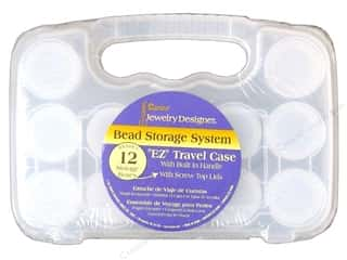 Darice JD Bead Storage System with 12 Containers