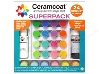 Casting Resin $12 - $24: Delta Ceramcoat Super Pack Bright Colors