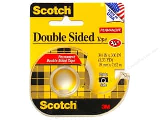 Scotch Tape Double Sided Permanent 3/4&quot;x 300&quot;