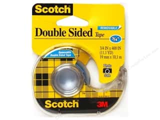"Scotch Tape Double Sided Removable 3/4""x 400"""