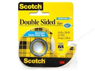 "Lint Removers Checkstand Crafts: Scotch Tape Double Stick Removable 3/4""x 200"""