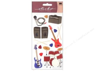 Music & Instruments paper dimensions: EK Sticko Stickers Rock & Roll