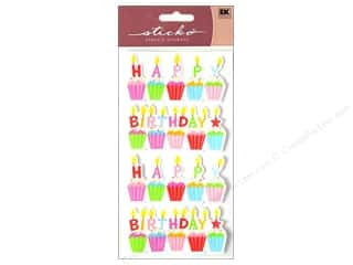 Birthdays $2 - $4: EK Sticko Stickers Glitter Birthday Cakes