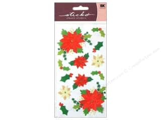 sticko: EK Sticko Stickers Poinsettias