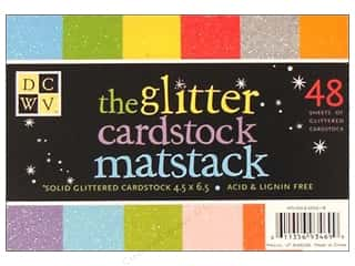 DieCuts Cardstock Stack 6.5x4.5 Solid Glitter 48pc
