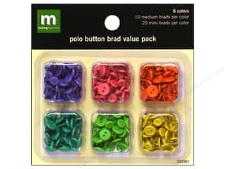 Making Memories Brads Value Pack Button Polo