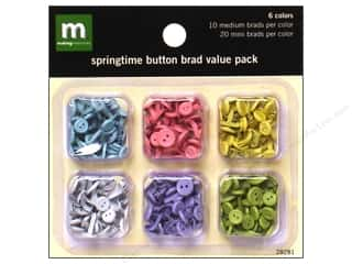 Making Memories Brads Value Pack Button Springtime