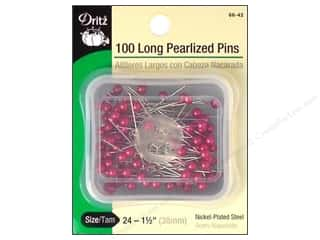Clearance Art Institute Glitter 1oz Glass Shards: Long Pearlized Pins by Dritz Size 24  Fuchsia 100pc.