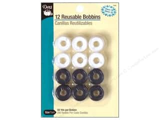 Bobbins Pre-Filled by Dritz White/Black 12 pc.