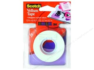 "Glues, Adhesives & Tapes Scotch Tape: Scotch Tape Vellum 1/2""x 400"""