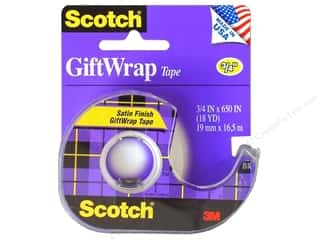 "Glues, Adhesives & Tapes Scotch Tape: Scotch Tape Giftwrap 3/4""x 650"""