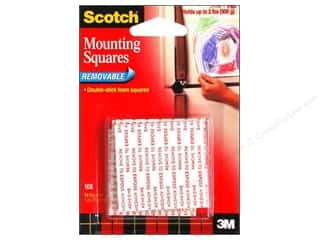 "Tapes Back To School: Scotch Mounting Squares Removable 1"" 16 pc"