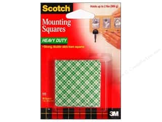 Scotch Mounting Squares Heavy Duty 1&quot; 16 pc