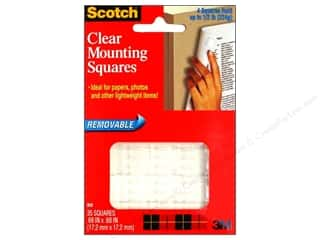 Scotch Mounting Square Removable 5/8&quot;Clear 35 pc