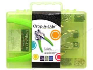 We R Memory Crop-A-Dile Punch Kit & Green Case
