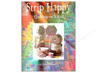 Design Originals Flowers: Design Originals Strip Happy Quilting on a Roll Book