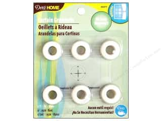 "plastic curtain grommets: Dritz Home Curtain Grommets 3/8"" White 12pc"