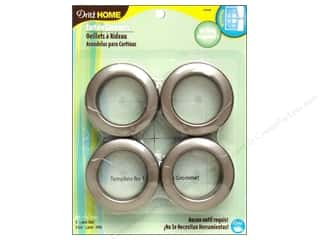 plastic curtain grommets: Dritz Home Curtain Grommets 1 9/16 in. Round Pewter 8pc
