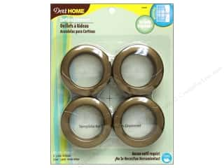 "1"" curtain grommets: Dritz Home Curtain Grommets 1 9/16 in. Round Antique Gold 8pc"