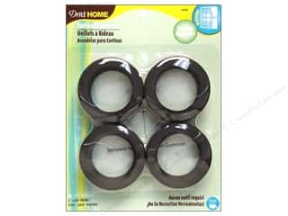 "1"" curtain grommets: Dritz Home Curtain Grommets 1 9/16 in. Round Black 8pc"