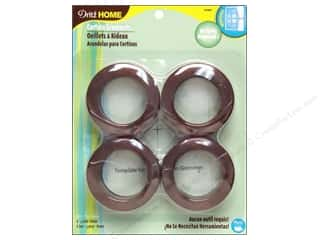 plastic curtain grommets: Dritz Home Curtain Grommets 1 9/16 in. Round Bronze