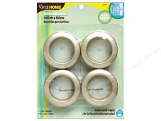 Metal Cream/Natural: Dritz Home Curtain Grommets 1 9/16 in. Round Champagne 8pc