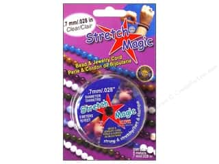 Elastic Meters: Stretch Magic Beading Cord .7mm x 16.4 ft. Clear