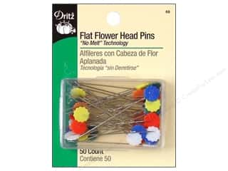 Dritz Sharp Pins Flat Head Flower 2&quot; 50 pc