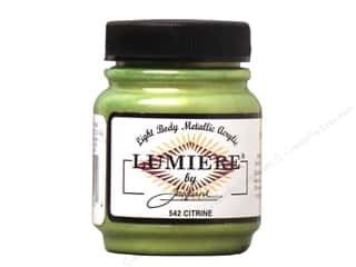 acrylic paint: Jacquard Lumiere Paint 2.25 oz. Citrine