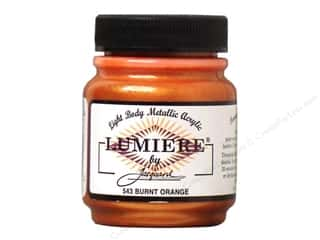acrylic paint: Jacquard Lumiere Paint 2.25 oz. Burnt Orange