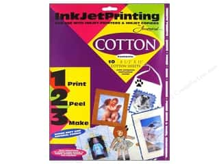 "Acrylic Sheets $5 - $8: Jacquard Inkjet Fabric Sheets 8.5""x 11"" Cotton 10 pc"