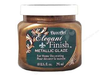 DecoArt Elegant Finish Paint: DecoArt Elegant Finish Glaze 10oz Mtlc Rnsnc Brn