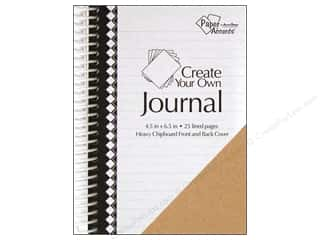 "Pens $4 - $6: Paper Accents Create Your Own Journal 4.5""x 6.5"" Lined 25 pg"