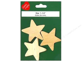 "Lara's Wood Star Medium 1 1/2""x 1/4"" 3 pc"