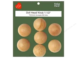 Lara&#39;s VP Wood Doll Head 1 1/2&quot; 7 pc