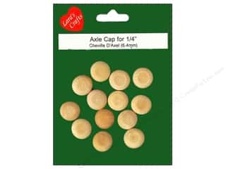 Lara's Wood Axle Cap 1/4 in. 13 pc.