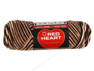 Clearance TLC Essentials Yarn: Red Heart Classic Yarn 4ply Shaded Browns