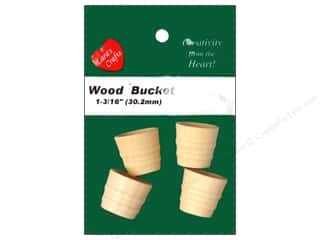 Gardening & Patio Craft & Hobbies: Lara's Wood Bucket 1 3/16 in. 4 pc