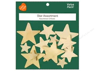 Lara's Wood Star Assortment Value Pack 14 pc.