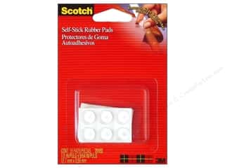 Scotch Self-Stick Rubber Pads Frames Clear 18pc