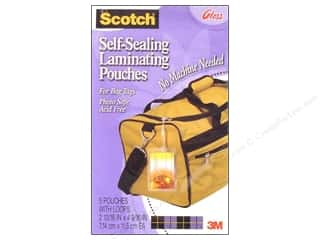 "3M Laminate: Scotch Laminating Pouches Self Sealing Bag Tags 2.75""x 4.5"" 5pc"