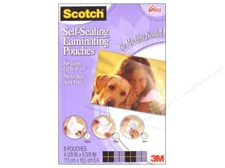 "Laminate: Scotch Laminating Pouches Self Sealing Photo 4""x 6"" 5pc Gloss"
