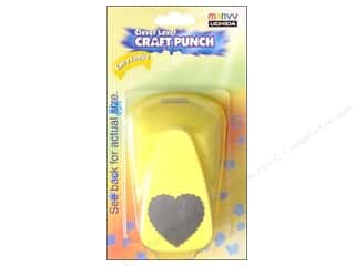 Uchida Hearts: Uchida Clever Lever Extra Jumbo Craft Punch 1 1/4 in. Scallop Heart