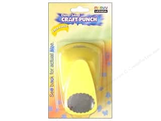 Clearance Uchida Tri-Corner 3 in 1 Punch: Uchida Clever Lever Extra Jumbo Craft Punch 1 3/8 in. Scallop Oval
