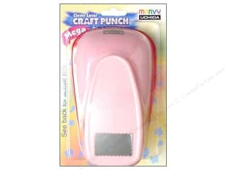 Uchida: Uchida Clever Lever Mega Craft Punch 2 1/4 in. Scallop Rectangle