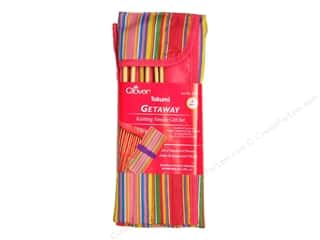 Clover Bamboo Knitting Needle Set Sgl Point 9""