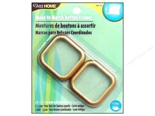 Dritz Notions: Dritz Home Make/Match Cvr Button Frme Sq #54 Gld