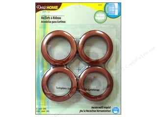 plastic curtain grommets: Dritz Home Curtain Grommets Large 1 9/16 in. Copper